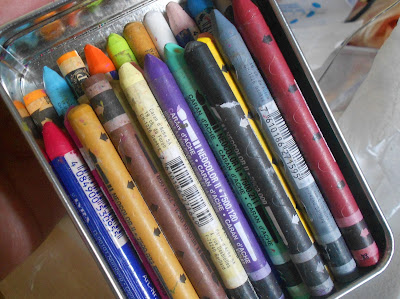 water color crayons