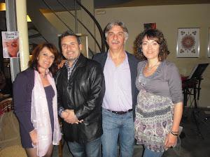 Amb Eduard Miró y senyora.