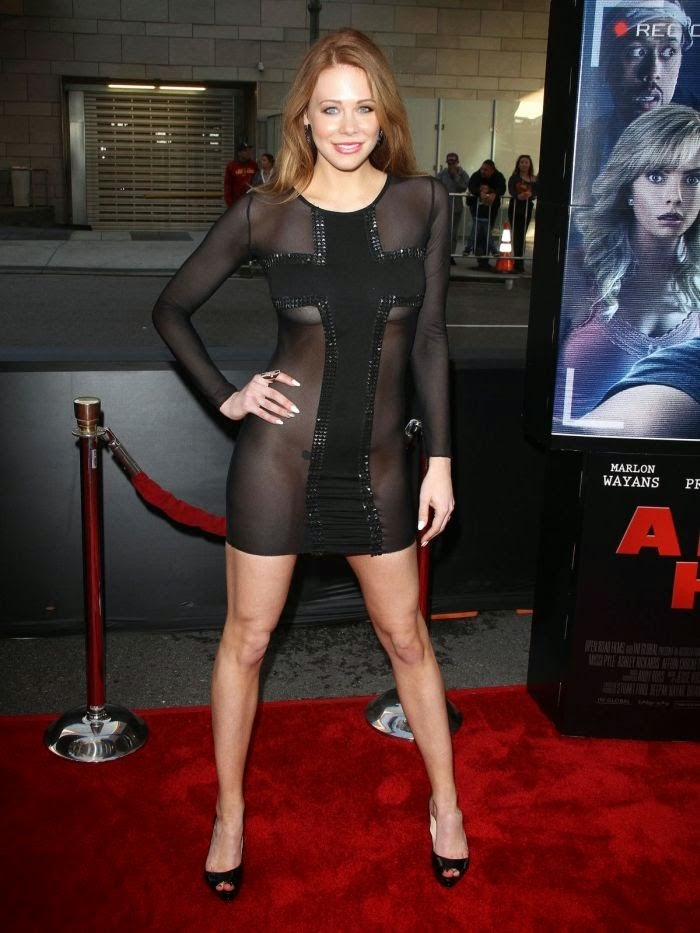 Maitland Ward wears a Mini Dress at Los Angeles‭ ‬on Wednesday,‭ ‬April‭ ‬16,‭ ‬2014