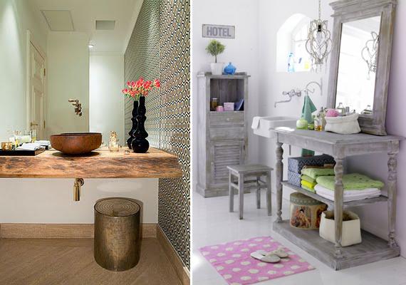A Boutique das Ideias Estilo Rústico -> Banheiro Moderno E Rustico