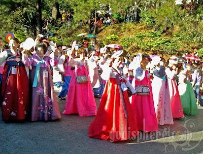 Koreans in their Traditional Costume
