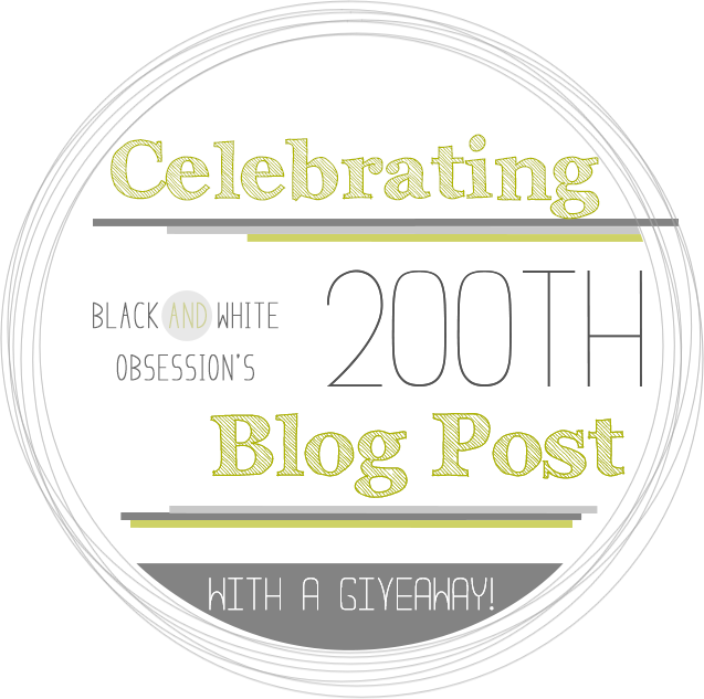 Black and White Obsession's 200th Post Celebration Silhouette Cameo Giveaway | www.blackandwhiteobsession.com