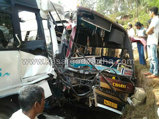 Bus, Accidental-Death, Police, hospital, Mangalore, National, Bus-driver, Injured, Kankanadi, Technology news, Keralavartha, Kerala News, International News, National News, Gulf News, Health News, Educational News, Business News, Stock news, Gold News, Technical, Business, Mobile Phone, Electronics Products, Several injured as buses collide near Kudupu Temple