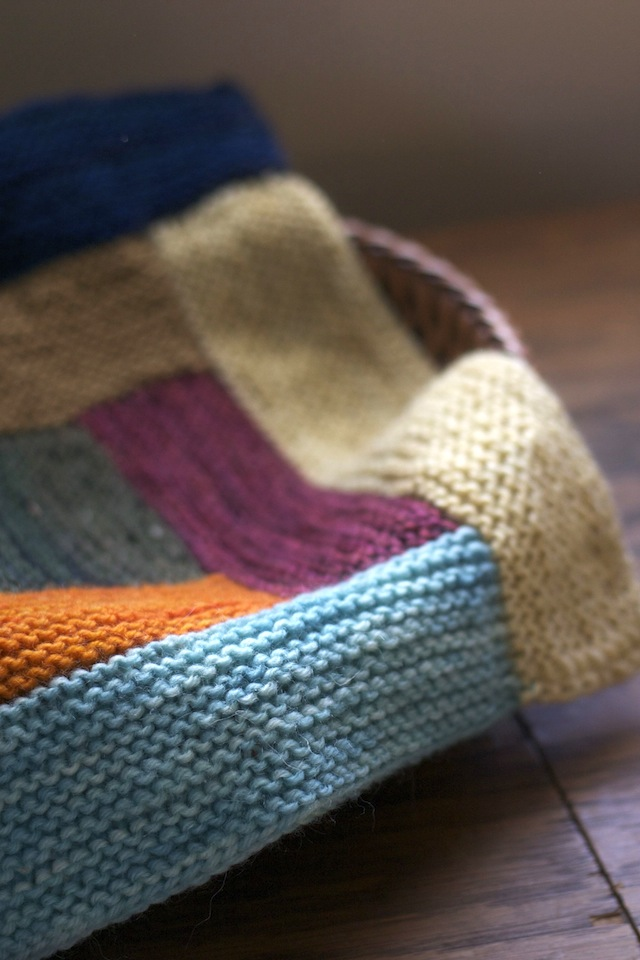 Log Cabin Fever Blanket Resilient Knitter
