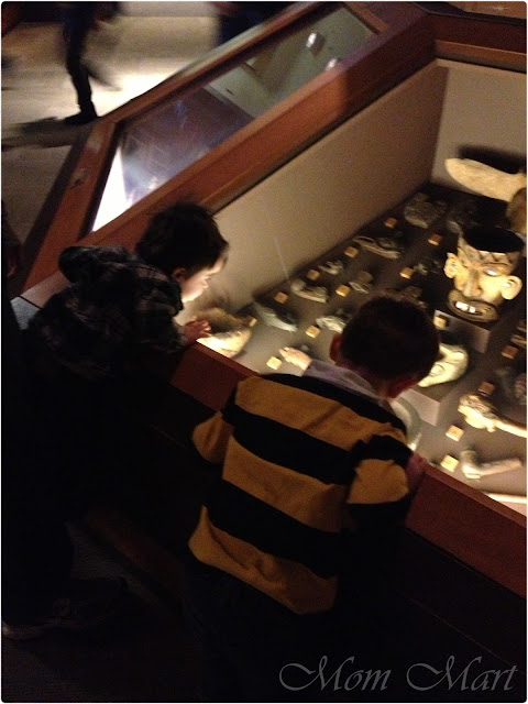 Checking out artifacts at  The Field Museum in Chicago