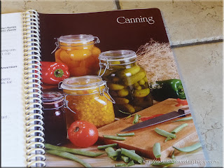 canning secting in the Kitchenen Memories Two recipe book