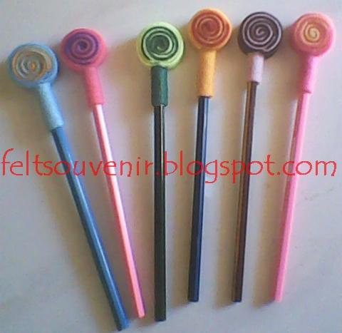 Hiasan Pensil Dari Kain Flanel Hiasan Pensil Dari Flanel