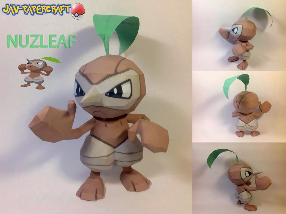 Pokemon Nuzleaf Papercraft