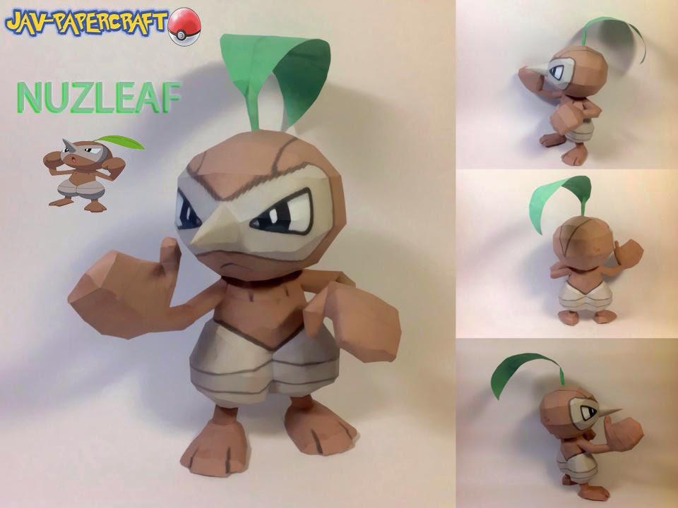 Pokemon Nuzleaf Papercraft