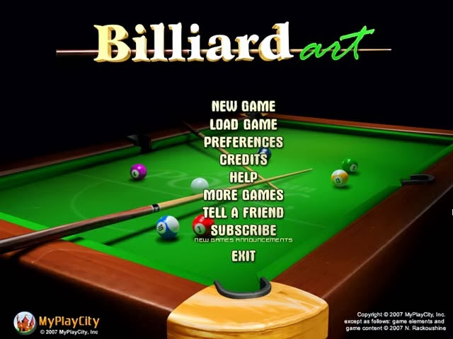 Game Billiard Art