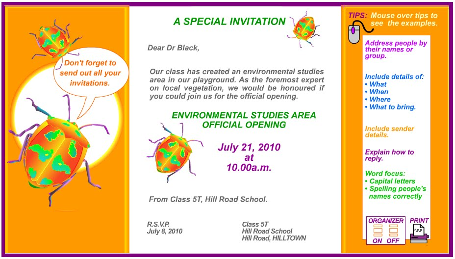 INVITATION CARD EXAMPLES