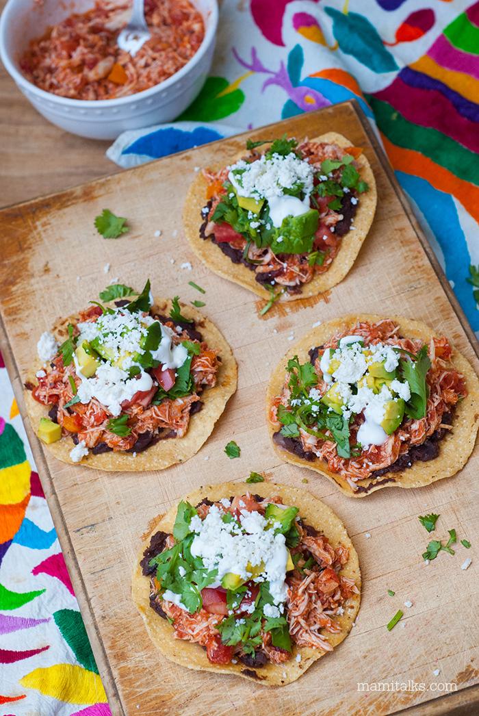 how to make tostadas mexican