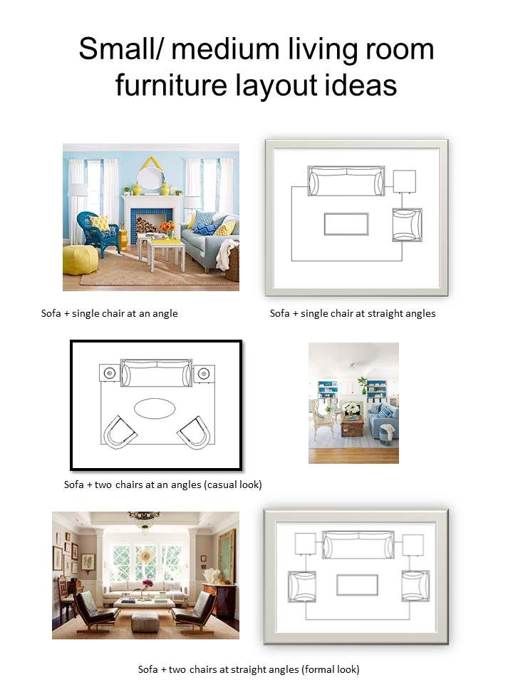 here are a few options for a small to medium sized living room