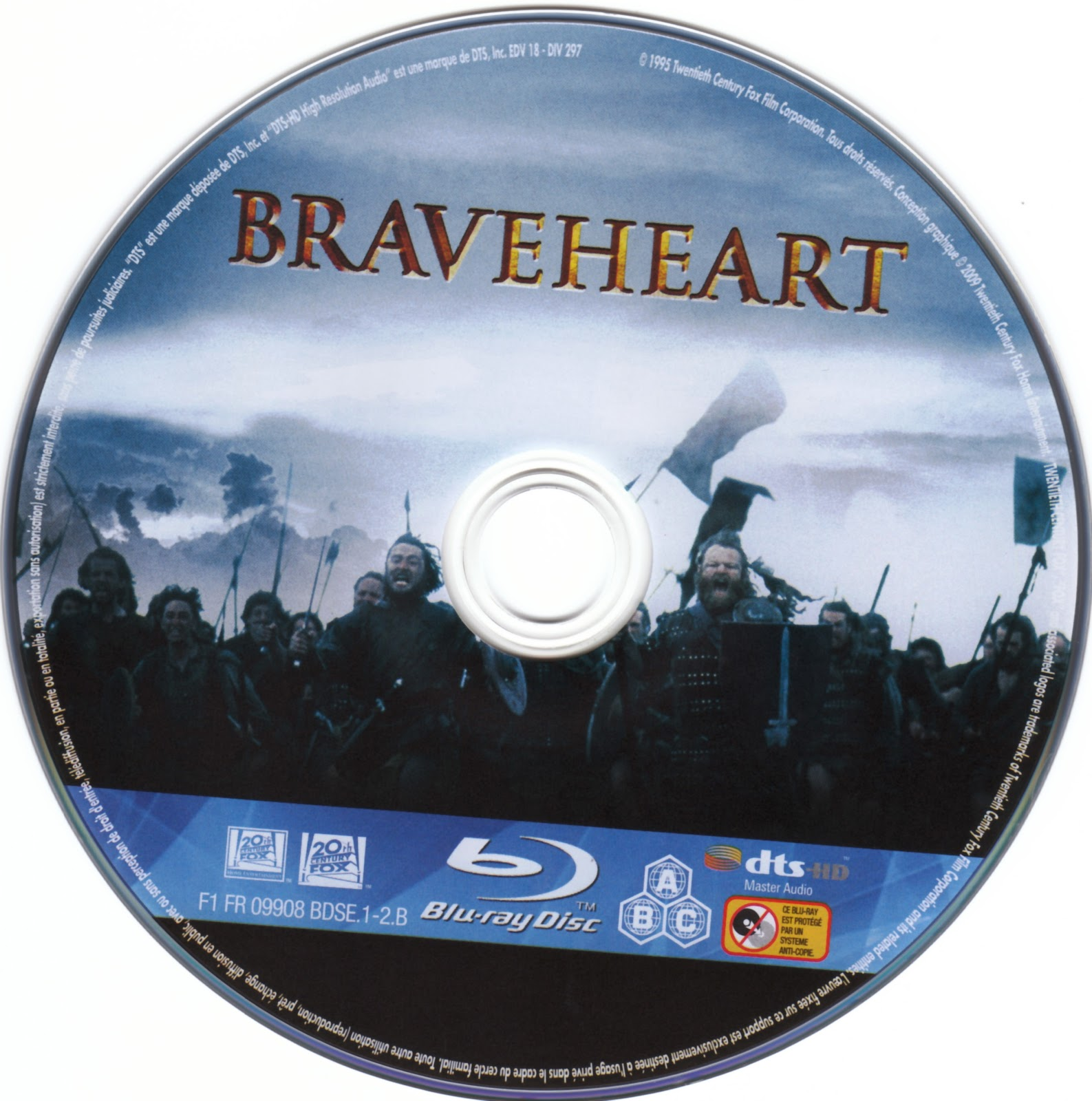 Braveheart Dvd Label