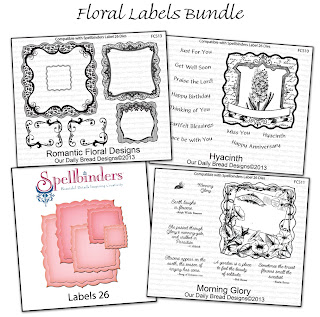 Our Daily Bread Designs April Floral Labels Bundle