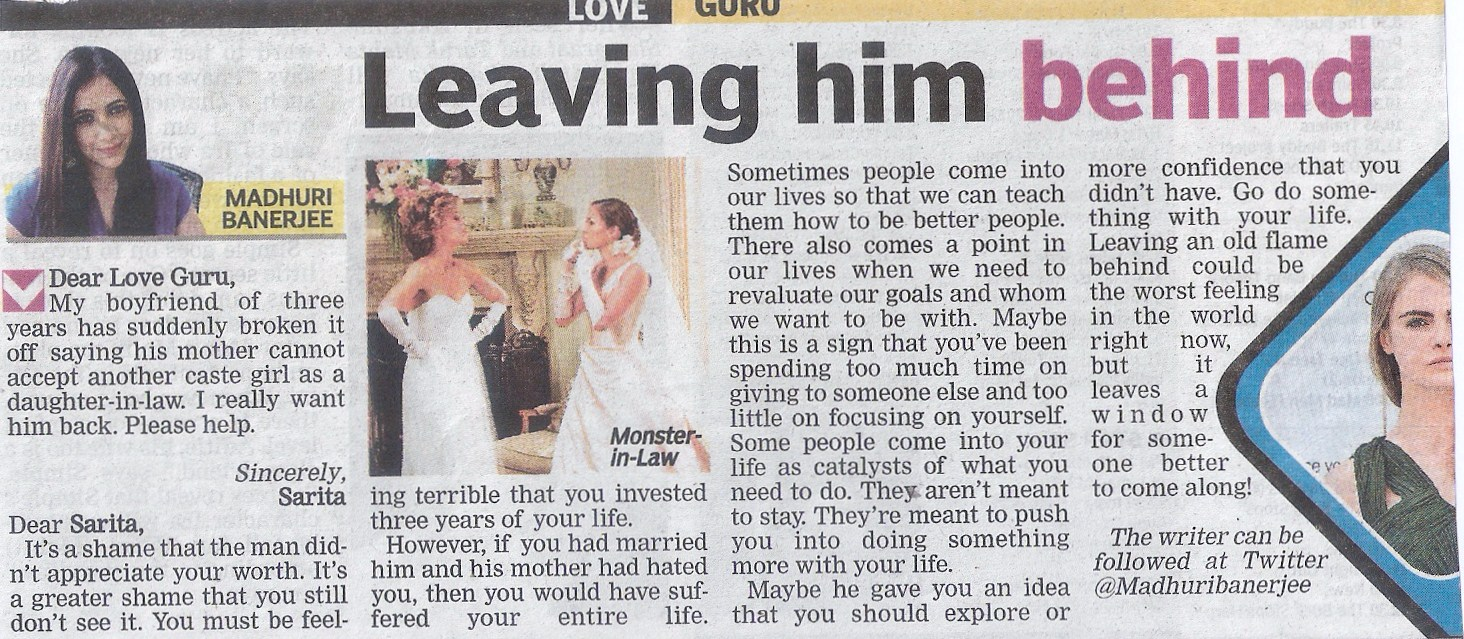 love and relationship advice columns