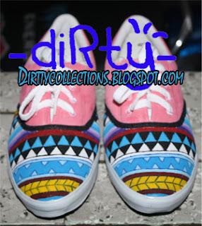Sepatu Lukis Tribal Pink