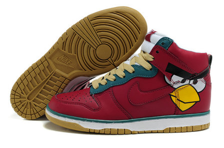 Red angry birds nike tennis shoes for sale men women colorful nikes