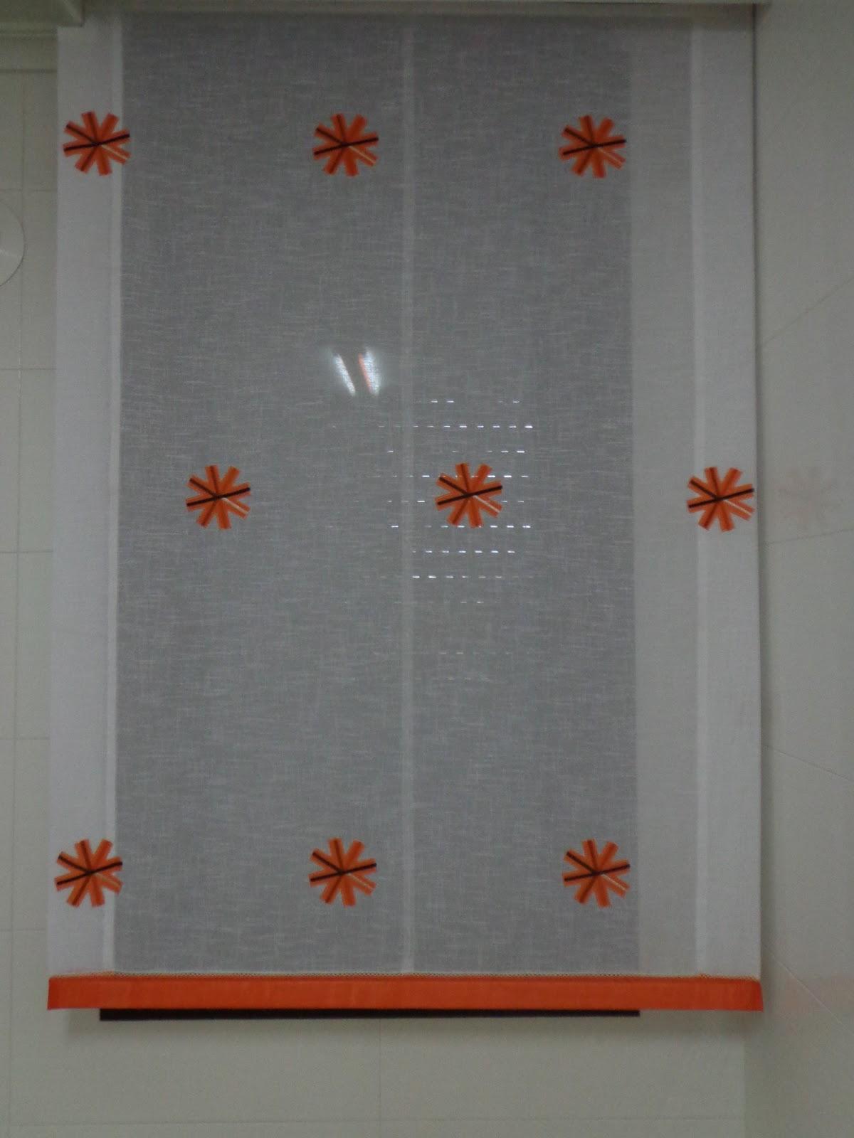 Decorar con cortinas y mucho m s naranjas en la cocina for Cortinas naranjas