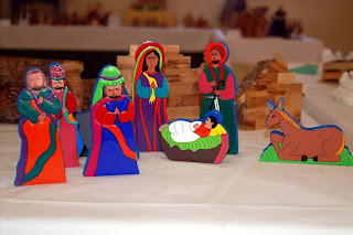 Seasonalpics Very colorful manger scene photo