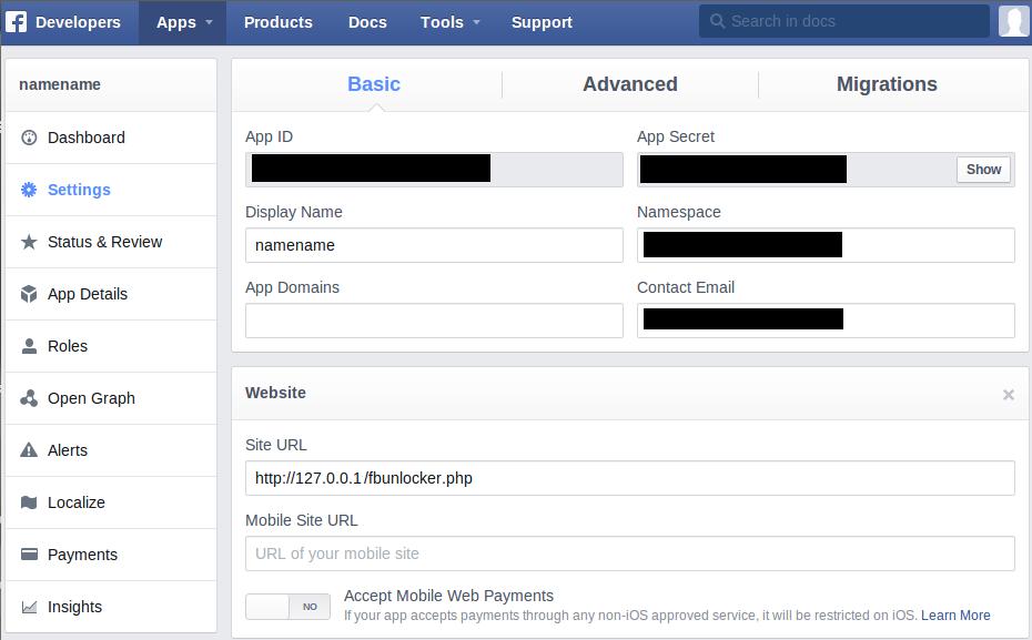 facebook_app_enter_localhost