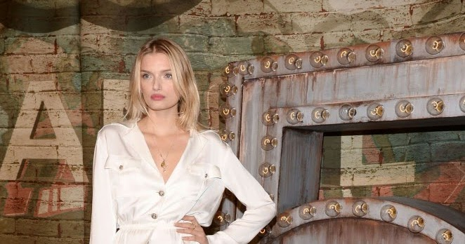 Lily Donaldson shows off long legs at No. 5 The Film by