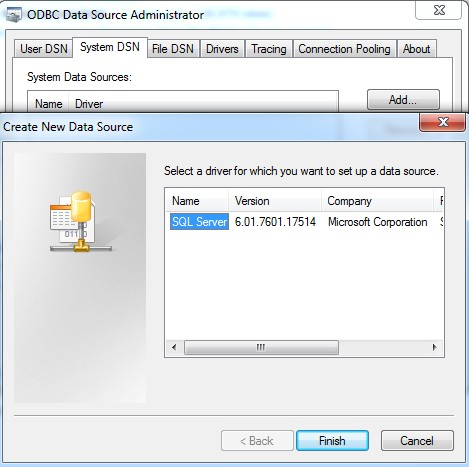 how to add odbc data source in windows 7