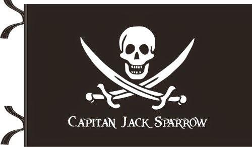 Bandera Pirata Jack Sparrow