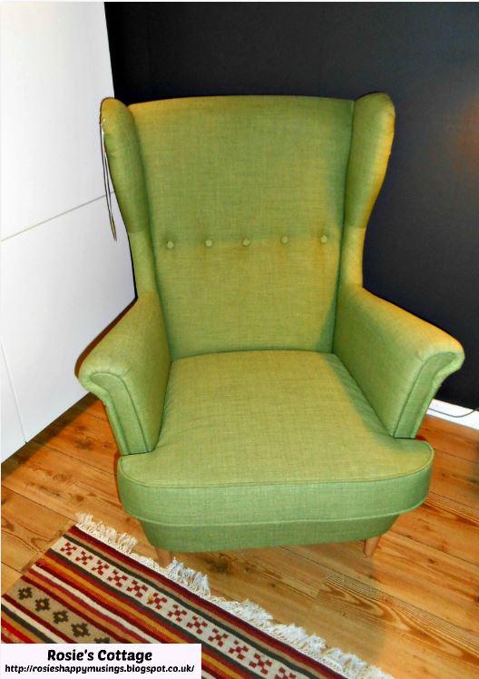 Ikea Strandmon chair in skiftebo green