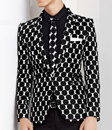 Art Deco Pattern Black White Trendy Blazer At PerfectMensBlazers.Com