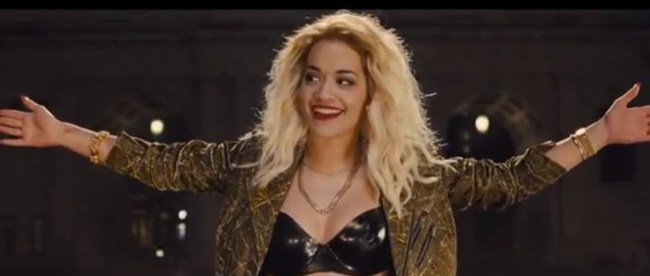 Rita Ora in the movie Fast and furious 6 making her debut as actor
