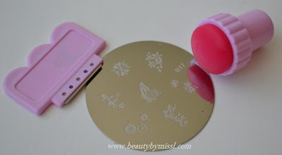 Stamping plate from KKCenterHK. Scraper and stamper set
