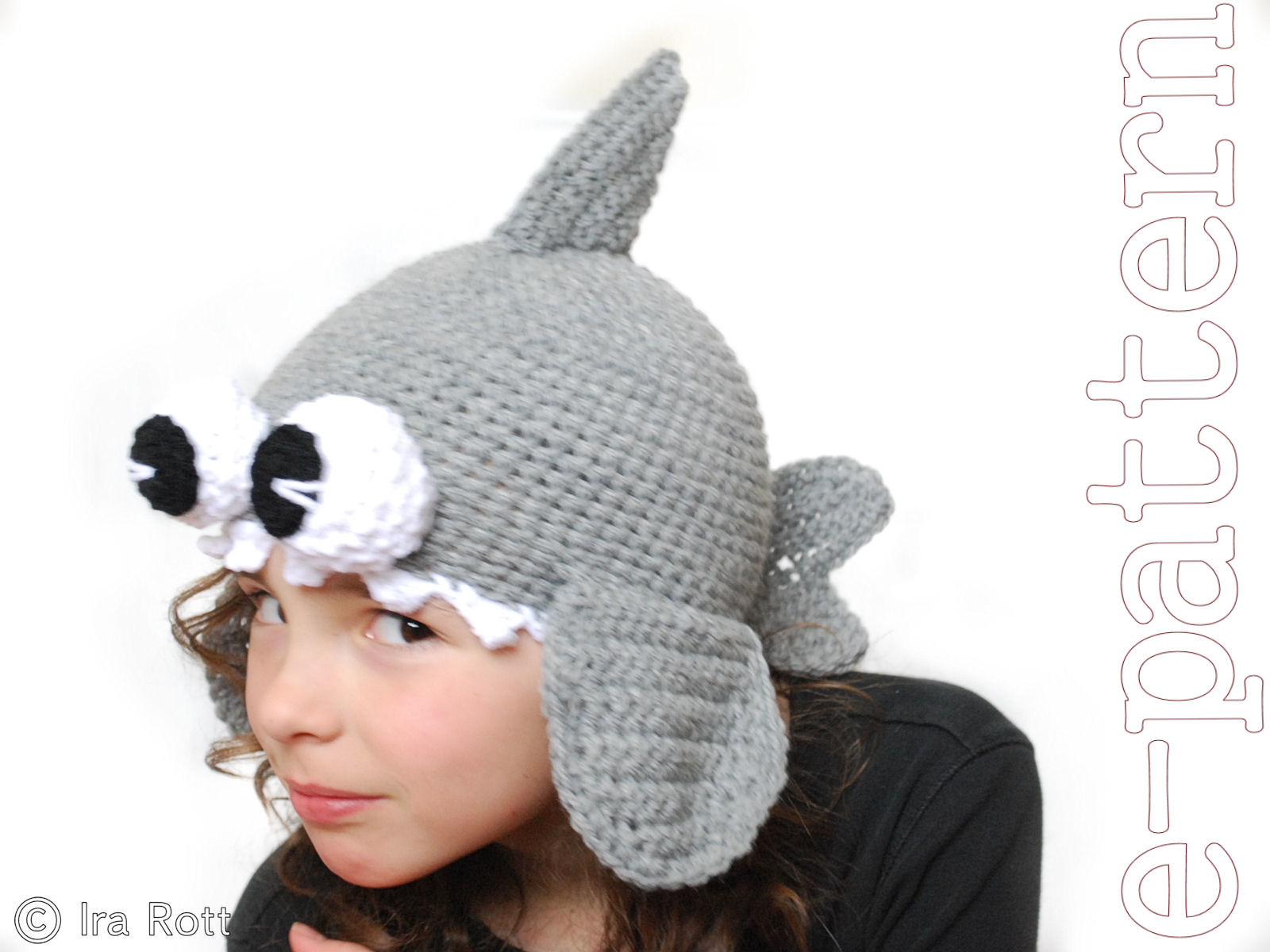 Fashion crochet design by ira rott shark hat with googly eyes for shark hat with googly eyes for boy or girl crochet e pattern for 4 sizes bankloansurffo Choice Image