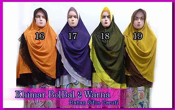 Grosir jilbab bolak balik murah 2 warna
