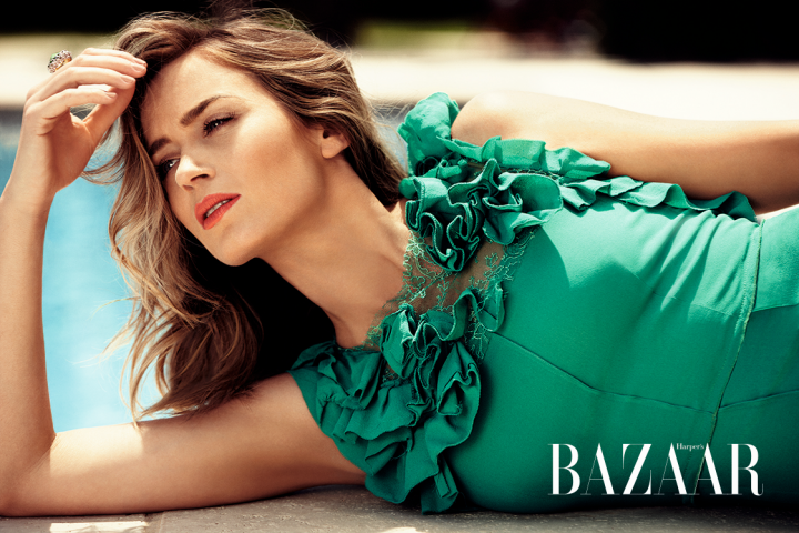 Emily Blunt is summer chic for Harper's Bazaar UK July 2014
