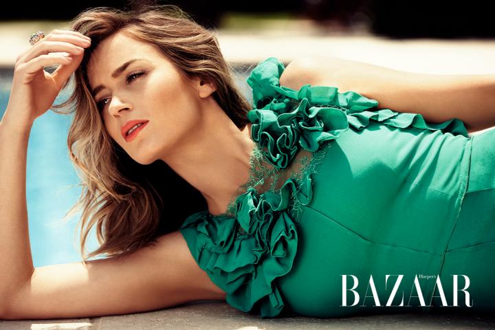 Emily Blunt is summer chic for Harper's Bazaar UK July 2014