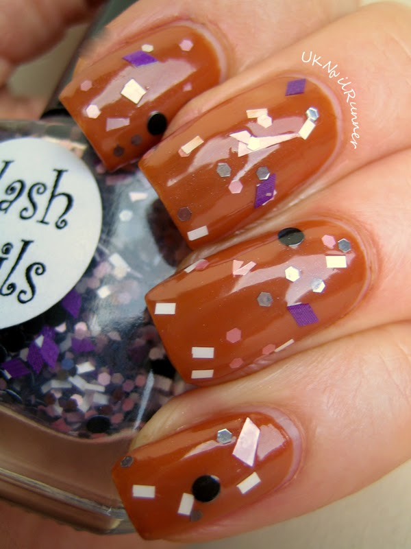 Flash Nails Princess over OPI & Apple Pie