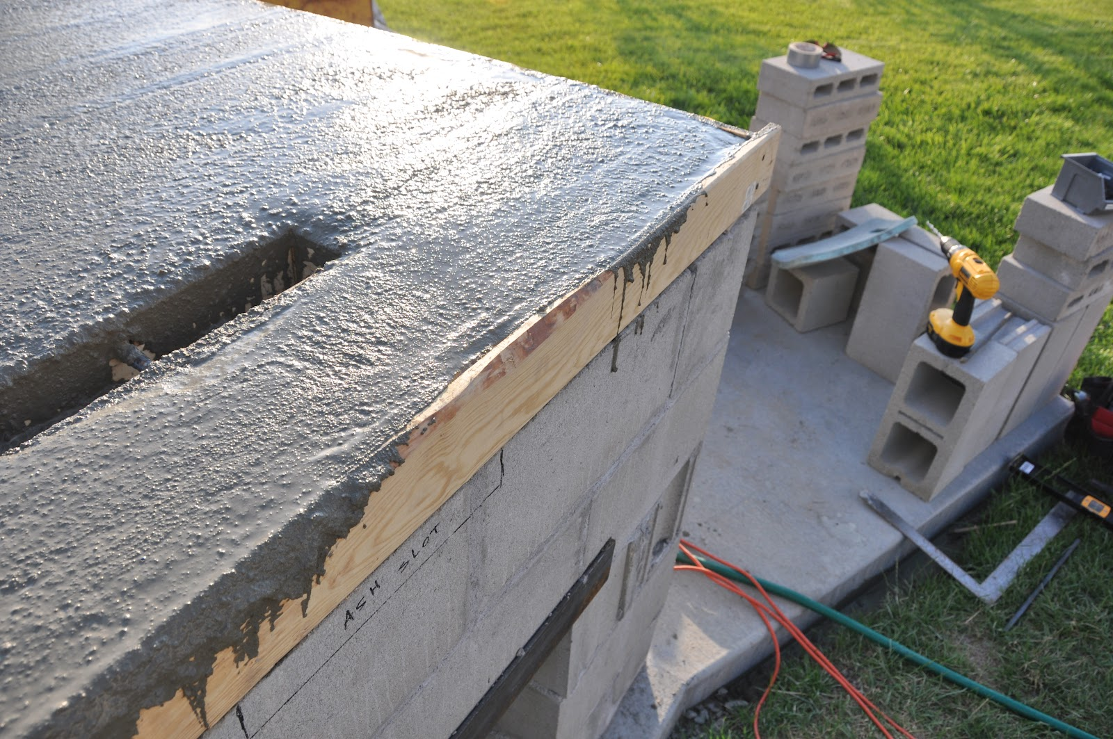 Structural Concrete Slabs : Building an oven pouring the structural slab