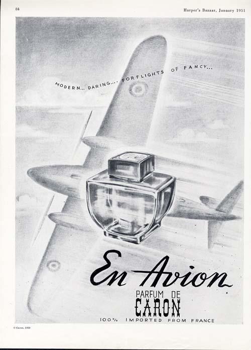 perfumes en el avion