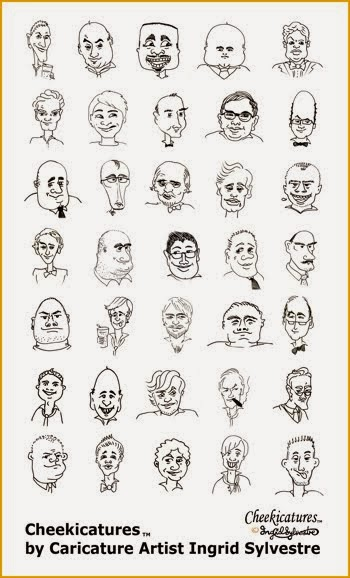CHEEKICATURES-TM Caricatures that gently mock your guests!