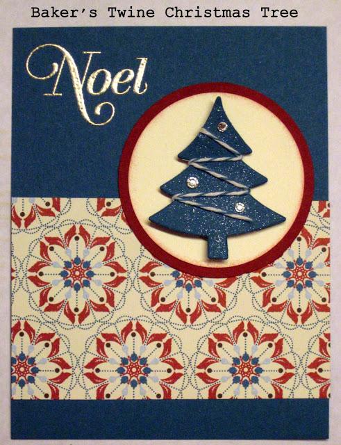 TARJETA A MANO BAKER'S TWINE CHRISTMAS TREE