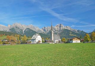 town of Maria Alm- Austrian summer