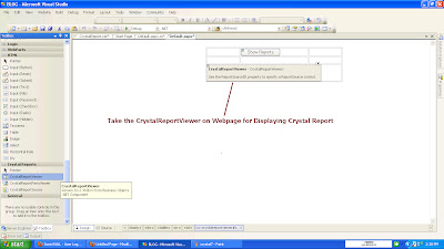 how to create crystal report in c web application