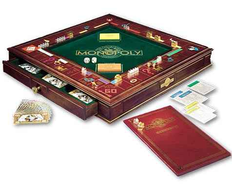 Gambar   Monopoly Disalut Emas   Franklin Mint Monopoly