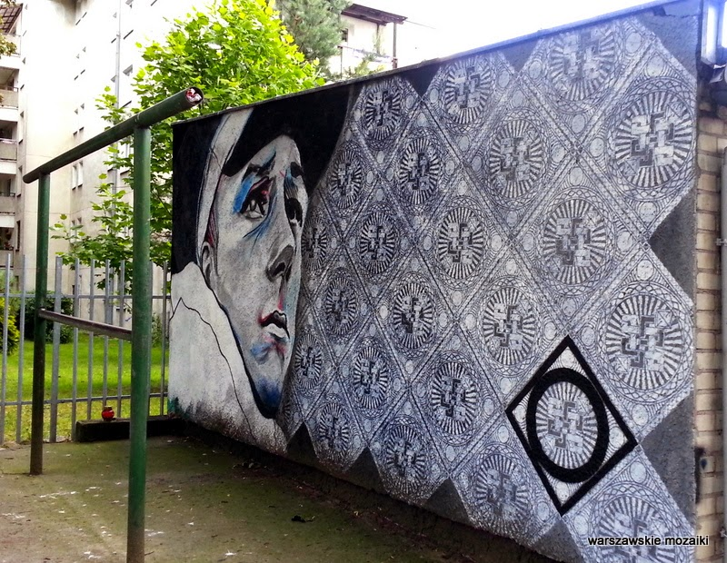 warszawa stolica mural wola graffiti blok ściana trzepak