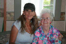 Tammy and Thelma Goodwin working on Family Histories July 2010 Greenville Utah