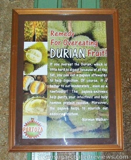 remedy for overeating durian fruit