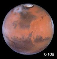 Планета Марс - стоимость 0.10$ USA