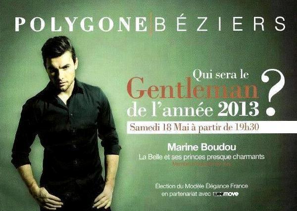 Affiche de l'élection modèle Élégance France à Béziers.