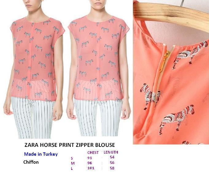 Horse Print Blouse Zara 69